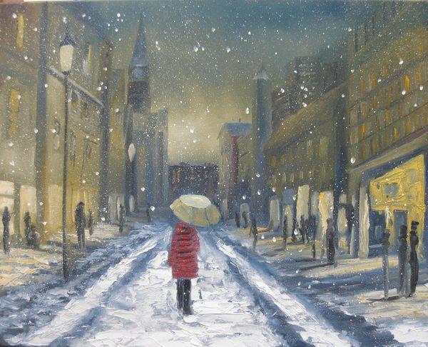 17 Stadt im Winter